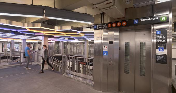 Elevator in Broadway-Lafayette Subway Station