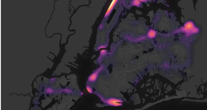 Speeding hotspots in NYC